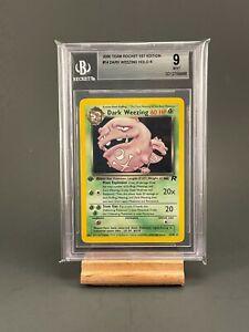 Dark-Weezing-Holo-1st-Edition-Team-Rocket-14-82-BGS-9-Pokemon-Card-Mint