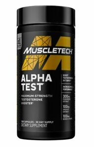 MuscleTech AlphaTest ATP & Testosterone Booster for Men EXP-8/23