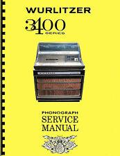 MANUALE COMPLETO  (manual) JUKEBOX WURLITZER 3400-3410-3460 STATESMAN (juke box)