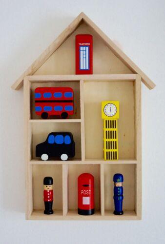 Petite maison en bois étagère affichage Stockage Décoratif de chambres d/'enfants DECOUPIS