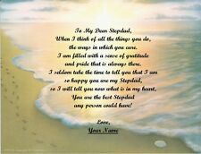 Christmas Gift/ Birthday Gift For Stepdad Personalized Poem Gift Footprints