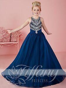 Girls Ball Gown Flower Dress Wedding Princess Bridesmaid Party Prom Birthday