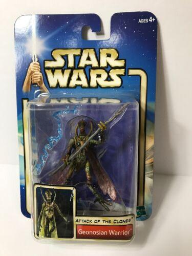 '02 Star Wars AOTC Geonosian Warrior #15 Action Figure Staff /& Effect Hasbro