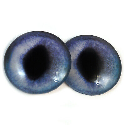 Glass Doll Eyes 14mm Blue Siamese Cat Realistic Animal Eye Jewelry Taxidermy Art