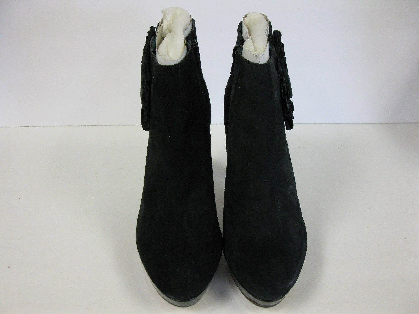 Steve Madden Ankle Boots Black Suede Size 10