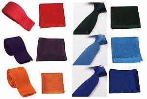 Intelligent Haute Qualité Homme En Mailles Tricoté Cravate + Mouchoir De Poche Mouchoir Set Tissé Dot-afficher Le Titre D'origine Utilisation Durable