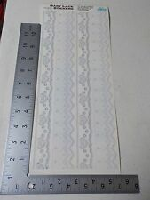 CREATIVE IMAGINATIONS BABY LACE BORDERS HEARTS STICKERS SCRAPBOOKING NEW A2597