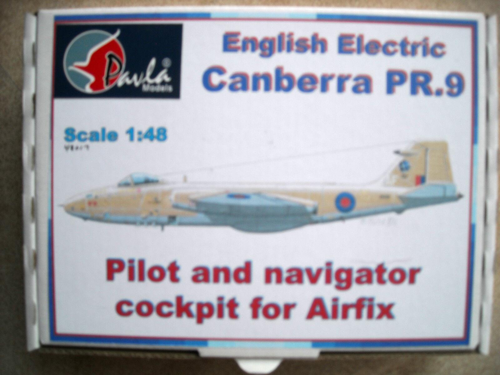 Pavla 1 48  48017 English Electric Canberra PR9 Pilot & Navigator Cockpit Airfix