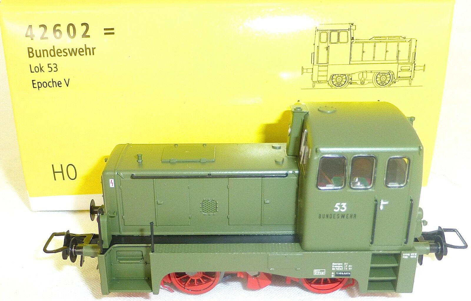 Bundeswehr Locomotive Diesel Locomotive 53 Dss Epv Brawa 42602 Neuf Kb5 Μ