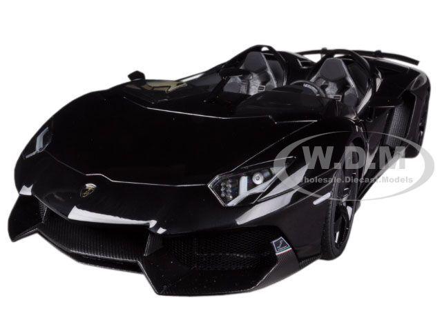 Lamborghini Aventador J Roadster Negro  Diecast Model Car By Autoart 74676