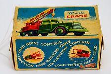 Crescent #1269 Mobile Crane Red Green Yellow Broken Toy w/ Original Box