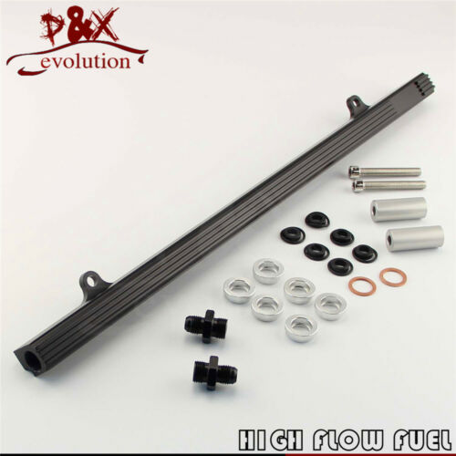 Top Feed Fuel Injector Rail for Nissan Skyline R32 R33 RB25DET GTS black