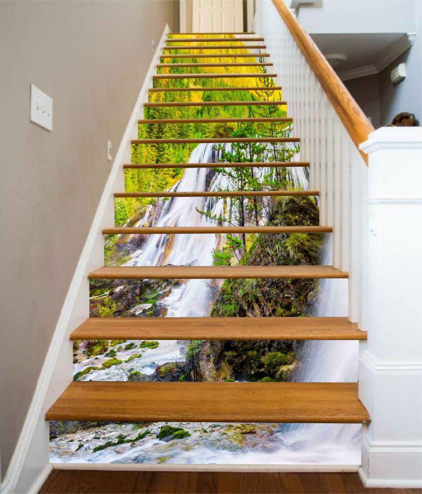 3D Clear Forest 893 Stair Risers Decoration Photo Mural Vinyl Decal Wallpaper AU