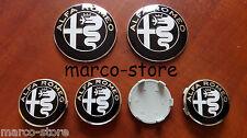 Kit Conversione  ALFA ROMEO 147 156 MITO 50mm Stemma coprimozzo Fregio Logo
