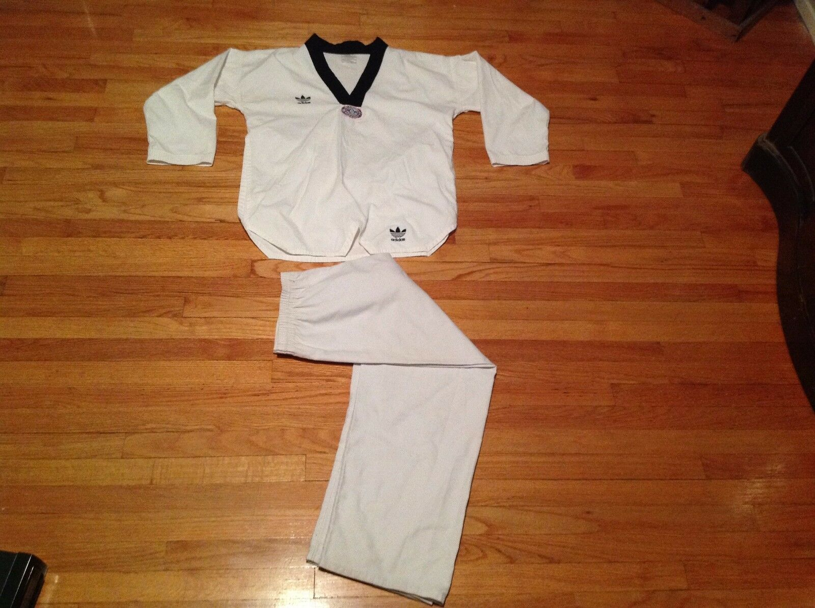 Vintage Adidas Weiß Belt Karate Uniform Youth Größe 5