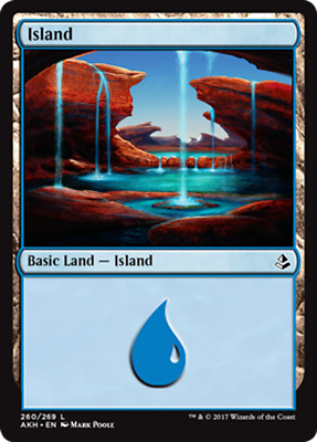 Magic the Gathering FOIL ISLAND x10 card mtg NM basic land cards mixed