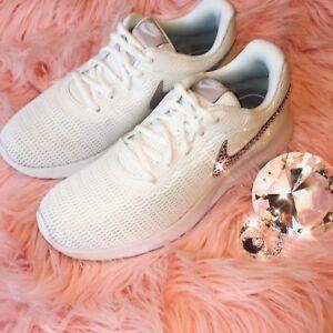 73c8f52c29 Image is loading Bling-Nike-Tanjun-Shoes-with-Swarovski-Crystal-Diamond-