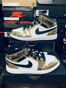Nike-Air-Jordan-1-Mid-SE-Metallic-Gold-Black-White-DC1419-700-PS-13C-DS-2020