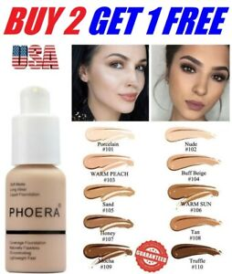 Phoera-Foundation-Makeup-Full-Coverage-Liquid-Base-Brighten-Long-Lasting-Shade