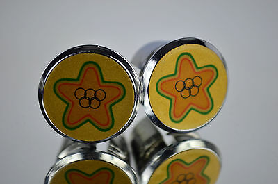 New Shimano Handlebar End Plugs Bar Caps vintage guidon bouchons calotte tappo