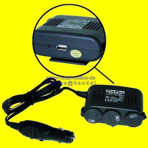 Proplus 450570 3 especializada KFZ enchufe con conexión USB para coche del encendedor de cigarrillos