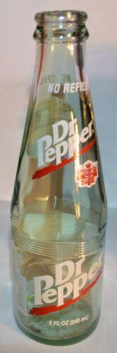 Dr Pepper Soda Green Tint Bottle 8 oz  Imperial Pure Cane Sugar 10 2 4