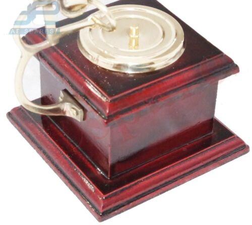 Vintage Miniature Gramophone Wooden Nautical Decor S2u