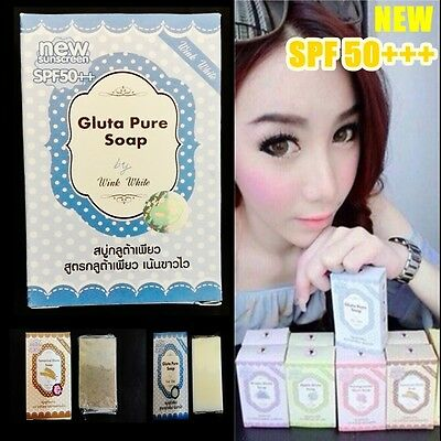 Gluta Pure Soap white wink Whitening  Soap 70g  NEW SPF 50+++free shipping