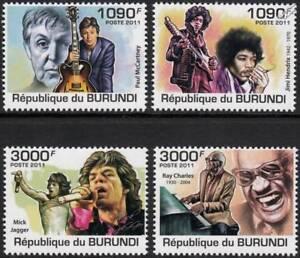 Intelligente Légendes De La Musique Chanteur Auteur-compositeur De Rock/pop/instrument Stamp Set (2011 Burundi)-ument Stamp Set (2011 Burundi)fr-fr Afficher Le Titre D'origine