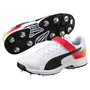2018 Puma evoSPEED 18.1 White Black Red Bowling Cricket Shoes Size ... 80187307e