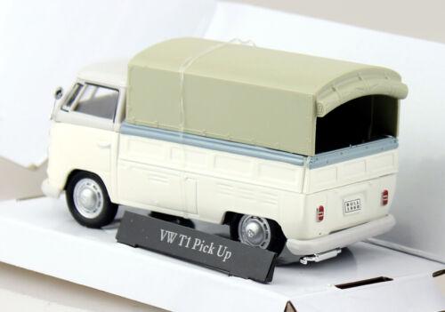 VW t1 PIANALE CON TELONE GRIGIO-BIANCO 1:43 Cararama Modello di auto