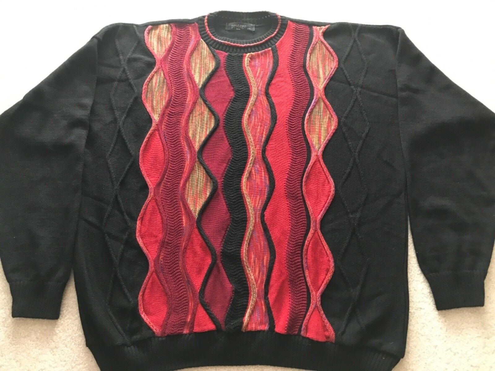 Protege Collection Coogi Style Multi Farbe Sweater Größe XXL Ugly Sweater 2X 3D