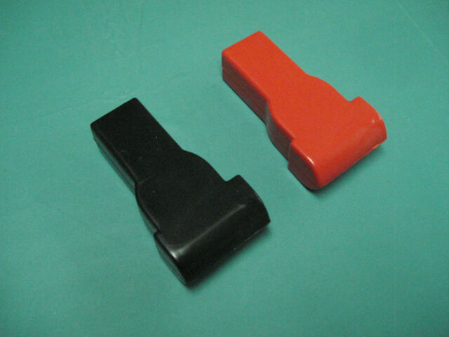 Top terminal battery post / cable cover set - red & black protector boots