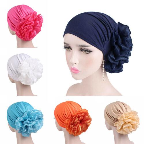 Hat Cover Cancer Muslim Turban Womens Hair Cap Flower Scarf Chemo Head Loss