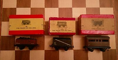 100% Vero 3 X Boxed Trix Wagons 627 Cattle Lms 608 Coal Low Side 4/603 Open High Side Lner