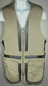 Cabelas hunting fishing vest tan khaki size s p long for Cabelas fishing vest