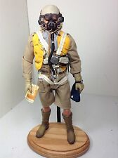 1/6 BBI RAF BRITISH FIGHTER PILOT+PARACHUTE N.AFRICA OAK STAND WW2 DRAGON DID RC