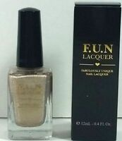 F.u.n. Lacquer Tgif Nail Full Size 12ml Ipsy Unique Gold Holographic 5-free