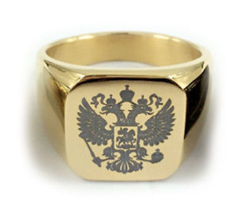 Masonic rings Gold Steel Scottish Rite Freemason Russian Coat of Arms
