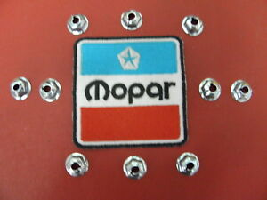 "MOPAR1/4"" THREAD CUTTING MOUNTING NUTS EMBLEMS TRIM 19/32"" WASHER HD  ITEM# 2741"