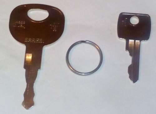 2 key/'s plant set 92274 thwaites dumper #t50479 and 14607 bosch master ignition