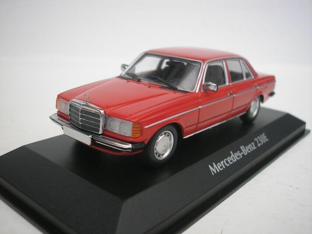 MERCEDES Benz 230e 230 e 1982 ROSSO 1/43 MAXI Champs 940032200 NUOVO