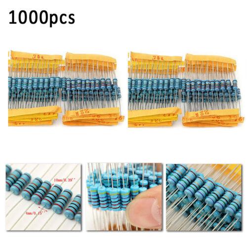 1000 X Sets 1/% 1W 100 Wert Metall Film Widerstand Verschiedene 1ohm-1M Ohm