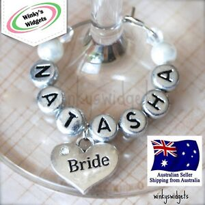 Wedding-Heart-Wine-Glass-Charm-Personalised-Any-name-Hen-Party-Bonbonnierre-WH1