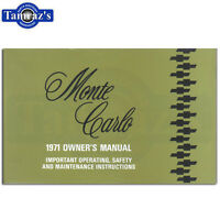 1971 Monte Carlo Owners Manual