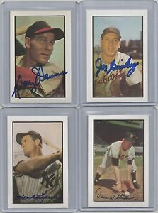 1953-BOWMAN-reprint-AUTO-signed-DAVEY-WILLIAMS-card-1-GIANTS-baseball-team-1983