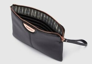 MIMCO-Black-Medium-Pouch-GALA-Pebble-Leather-Wallet-Clutch-Bag-BNWT-Authentic
