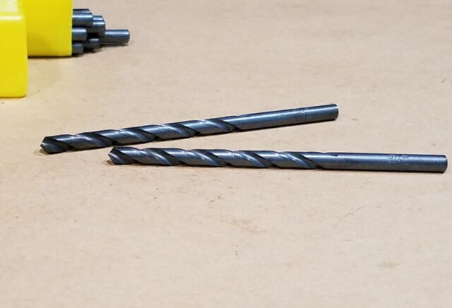 LOT OF 2 19//32 Drill Bit Hertel USA 118° HSS Jobber Length NOS Machinist