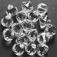 60 Small Faux Crystal Drops Hanging Christmas Tree Ornaments Vase Decorations