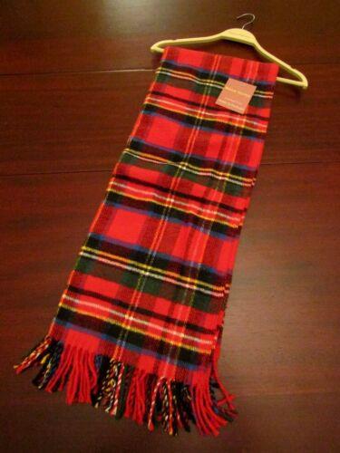 Roca Home tartan plaid cotton blanket throw 50x67 nwt red made in Portugal
